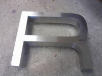 Lettre relief Aluminium