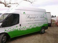Décoration de camion en adhésif pour Paysage d'Ambre