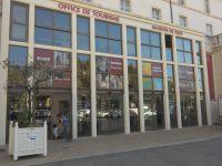 Impression Numérique microperforé collage vitrine Office de tourisme Carpentras