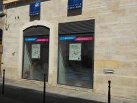 Vitrophanie exterieur Banque Populaire Alés