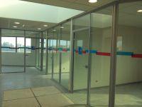 Vitrophanie interieur Banque Populaire Argeles sur mer