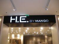 Caisson alu découpe pochoir Mango marseille