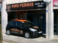Décors de véhicule et pose d'enseigne pour Kws Permis