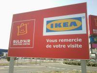 Pose de panneau publicitaire enseigne IKEA