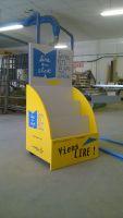 Création , lampe en lettres boDecors sur meuble en adhésif découpé longue durée